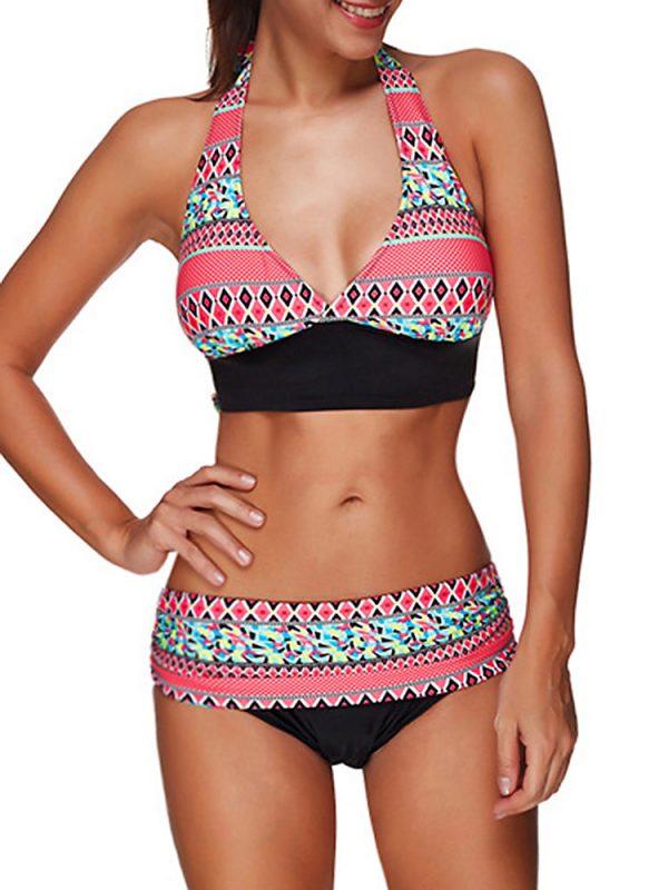 bikini estilo retro de dos piezas