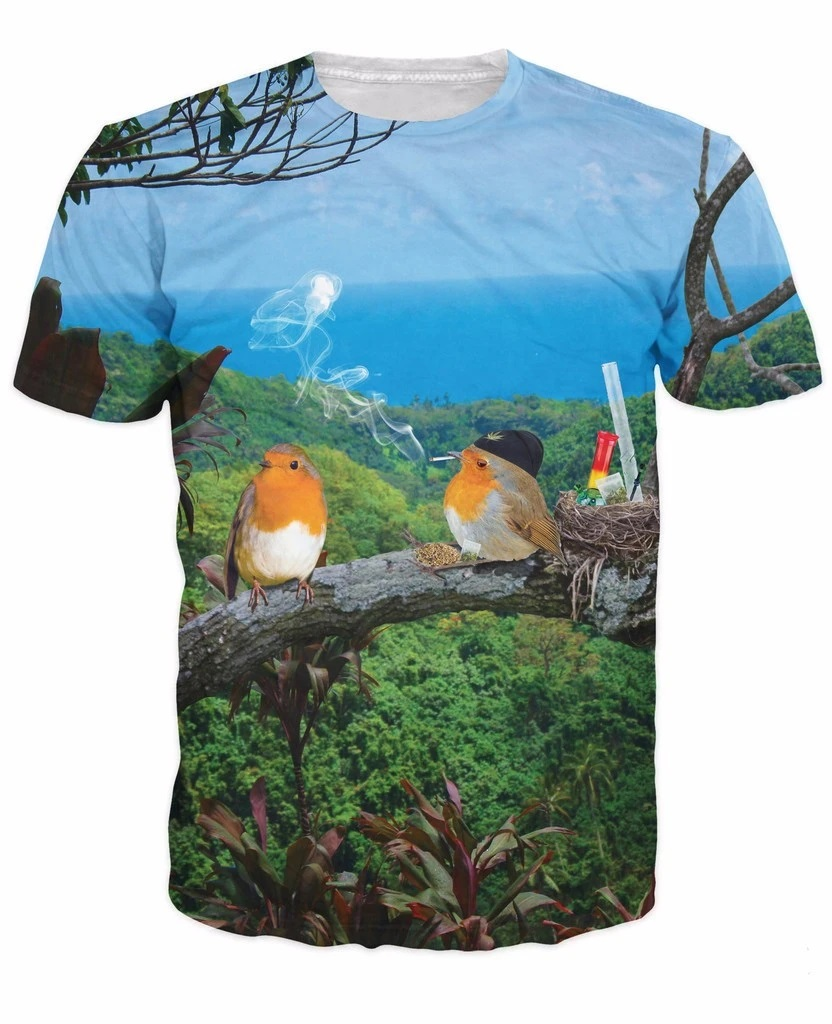 2 Birds 1 Stoned T-Shirt