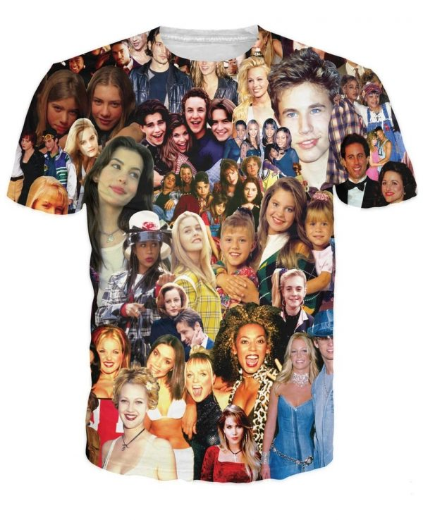 90 s Stars Collage T-Shirt