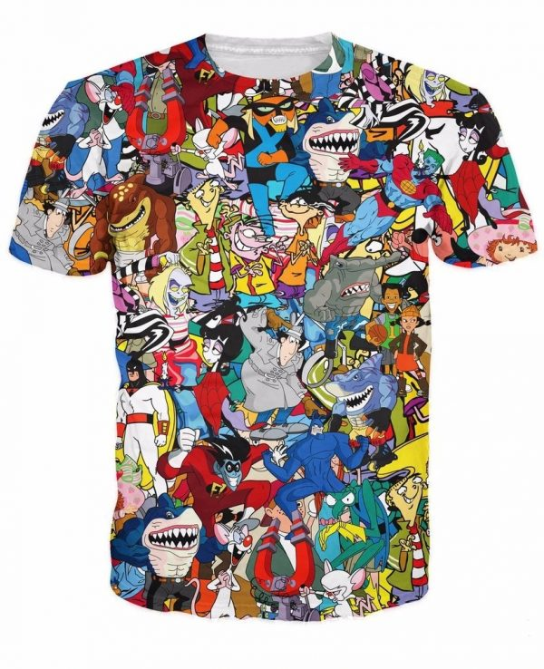 90s Cartoon Collage T-Shirt