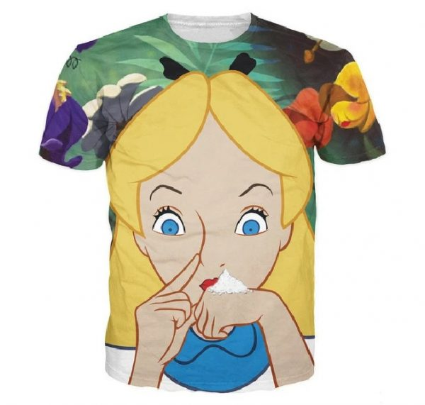 Alice in Cocaland T-Shirt all over print